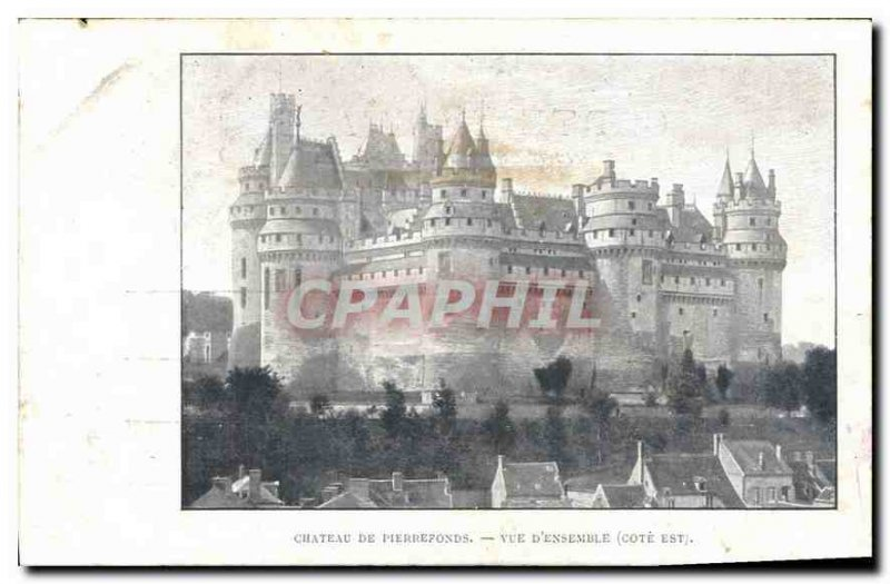 Old Postcard Chateau de Pierrefonds is rated Overview