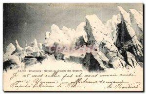 Old Postcard Chamonix Seracs Bossons glacier