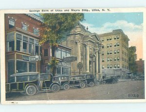 Pre-Chrome BANK SCENE Utica New York NY AG3187