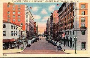Washington D C F Street From United States Treasury Looking East