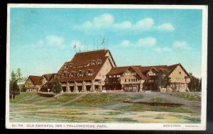 Old Faithful Inn Yellowstone Park Wyoming used c1909