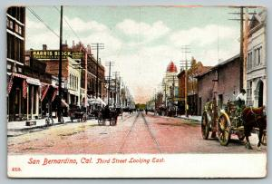 San Bernardino CA~Third Street~Harris Block Furnished Rooms~Removal Sale~1907