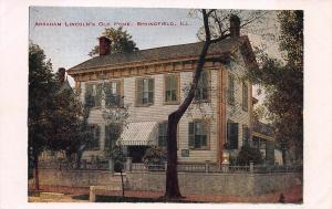 Abraham Lincoln's Old Home, Springfield, Illinois, Early  Postcard, Unused