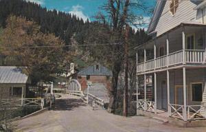 DOWNIEVILLE, California; Great Gold-mining center, Sierra Mountain Canyon, Yu...
