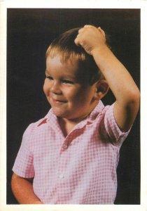 Foto Melotte little boy Hasseltsestraat Diest Postcard