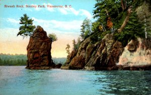 Vancouver, British Columbia - Canada - A view of Siwash Rock - c1908