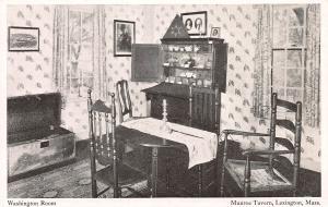 Washington Room, Munroe Tavern, Lexington, Massachusetts, Early Postcard, Unused