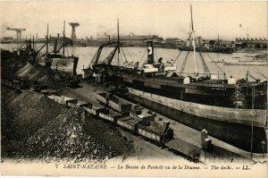 CPA ST-NAZAIRE Le Bassin de Penhoet vu de la Douane (864375)