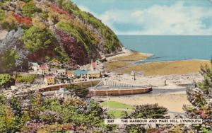LYNMOUTH, Devon, England, 1966; The Lynmouth Harbour & Mars Hill