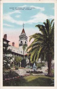 Florida Saint Augustine Court Of Ponce De Leon Hotel