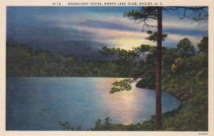 North Carolina Shelby North Lake Club Moonlight Scene