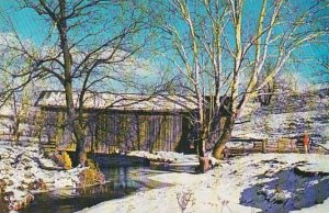 Covered Bridge In Winter This Noble County Vermont