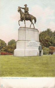 Statue of GeneralGreene, on horse  Tuck Statues an Monumnt ser. PC # 2343