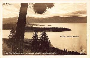 LAKE PEND OREILLE, IDAHO THE PENINSULA AND MAMALOOSE ISL. RPPC REAL PHOTO P.C.