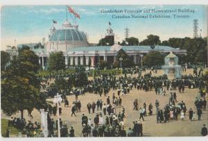Toronto Canada 1910 Gooderham Fountain Horticulture Bldg Exhibition Postcard