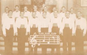 ELKS GLEE CLUB~MEAGLEY STUDIO~ONEONTA NEW YORK ? REAL PHOTO POSTCARD 1930s