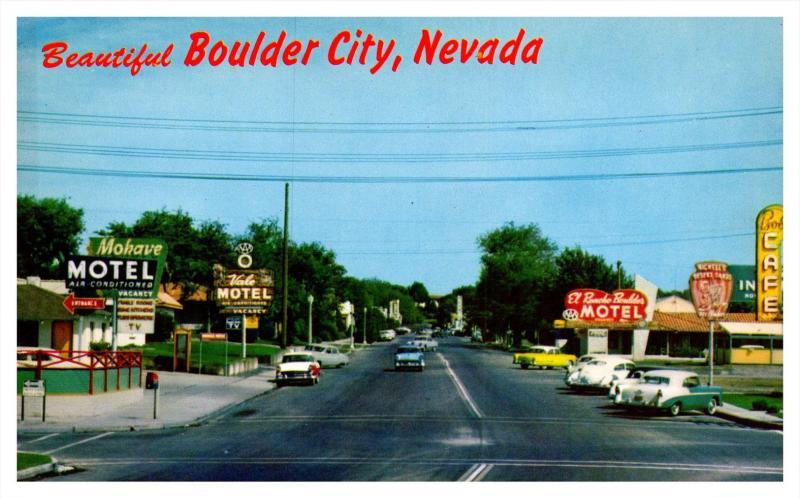 Nevada Boulder  City  , Nevada Highway , many Motels