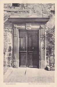 Haustur Der Klostermuhle, Maulbronn, Baden-Wurttemberg, Germany, 1910-1920s