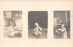 People and Children Photographed on Postcard, Old Vintage Antique Post Card T...