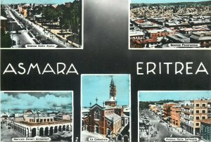 Asmara Eritrea semi-modern multi views postcard