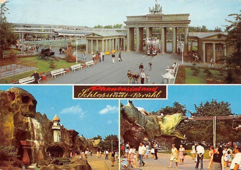 Phantasialand In Der Schlossstadt Bruehl Waterfall Promenade Brandenburger Tor Hippostcard
