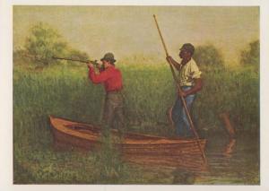 Thomas Eakins Rail Shooting Yale University Oil Painting Postcard