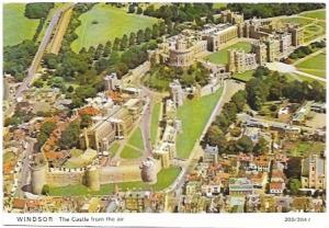 England.  Windsor Castle from the air.  Beautiful