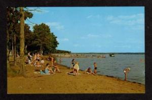 WI Bathing Beach on SHAWANO Lake WISCONSIN Postcard PC