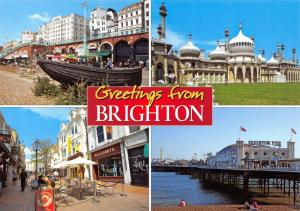 Postcard Greetings from BRIGHTON, Multiview East Sussex by J.Salmon Ltd #2621232