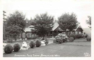 LPS45 Snoqualmie Washington Snoqualmie Falls Lodge Postcard RPPC