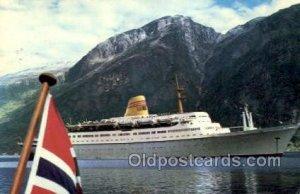MS Sagafjord Norwegian American Line, Ship Oceanliners 1972 postal used 1972
