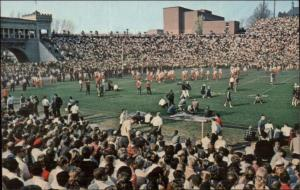 Syracuse NY Archbold Stadium Football Game Postcard c1950s-60s