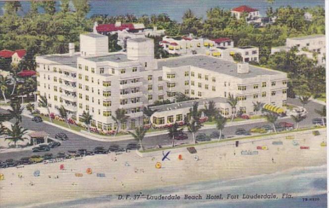 Florida Fort Lauderdale The Lauderdale Beach Hotel 1948 Curteich