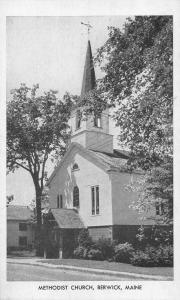 Berwick Maine Methodist Church Vintage Non PC Back JA4741419