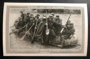 Mint Germany RPPC Postcard The infantry knows no obstacles River Crossing B