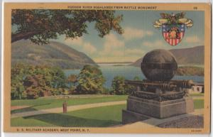 Hudson River Highlands From Battle Monument US Military West Point NY Postcard