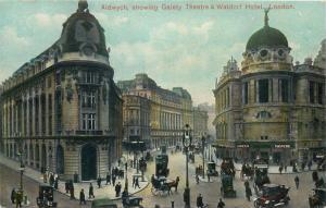 Aldwich showing Gaiety Theatre & Waldorf Hotel London