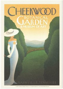 Postcard of Nashville Tennessee Cheekwood Botanical Garden Travel Poster Style