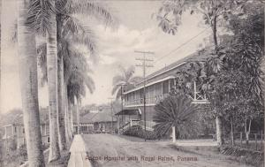 PANAMA, 1900-10s; Ancon Hospital with Royal Palms