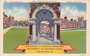 Pennsylvania Philadelphia Quadrangle And Triangle Dormitories Univeristy Of P...
