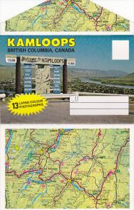Folder Postcard ; KAMLOOPS , B.C. , Canada , 50-60s