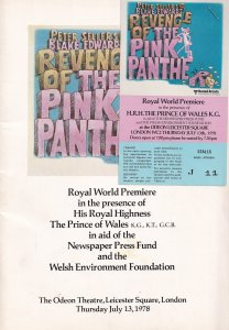 Revenge Of The Pink Panther Movie Peter Sellers FIRST EVER 1978 PREMIERE Prog...