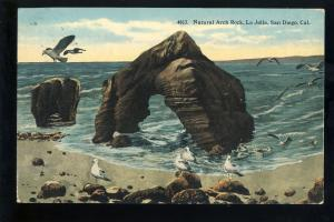 Santa Diego, California/CA Postcard, La Jolla, Natural Arch Rock, 1917!