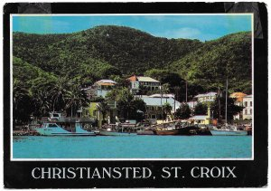 US  Used.  Christiansted, St. Croix, Virgin Islands. Stamp is Iceboat coil.