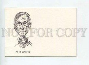 435580 FRANCE stamp artist Albert Decaris Old card