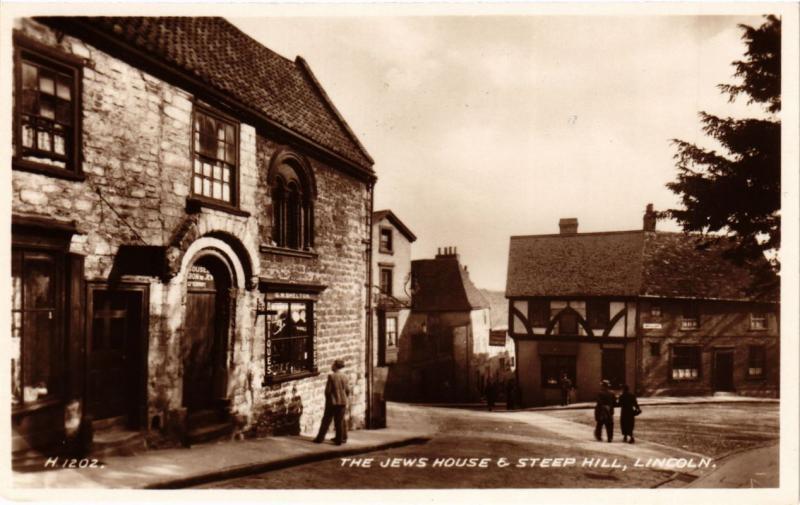 CPA AK JUDAICA The Jews House & Steep Hill, Lincoln (a1177)