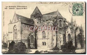 Old Postcard Picturesque Brittany Dinan Church St Malo
