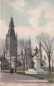 OTTAWA, Ontario, PU-1907; Parliament Grounds, Statue To Alexander MacKenzie
