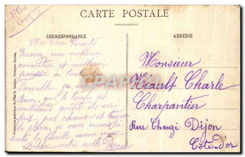 Old Postcard Belfort Train