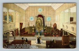 Interior Ste Anne De Beaupre Church, Vintage Canada Postcard